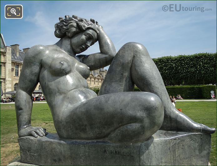 Lead Montagne Statue By Aristide Maillol