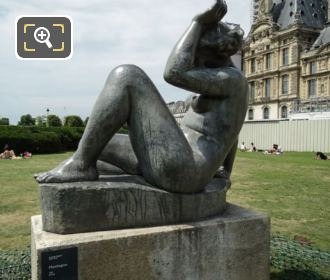Mountain Statue By A Maillol In Tuileries Gardens