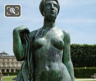 Close Up Of La Baigneuse Drapee Statue