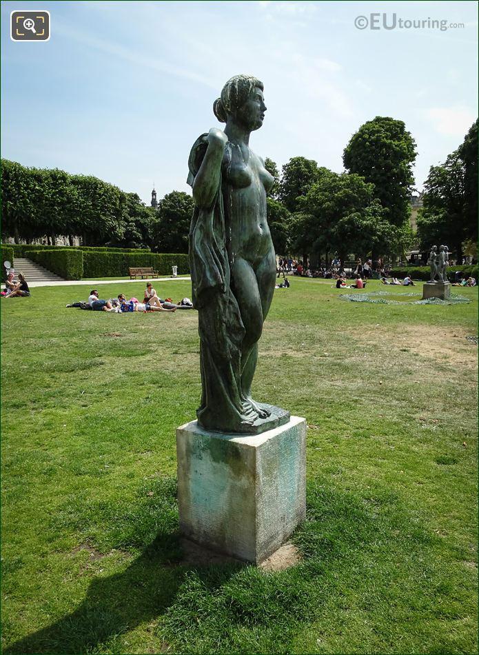 La Baigneuse Drapee Statue In Tuileries Gardens