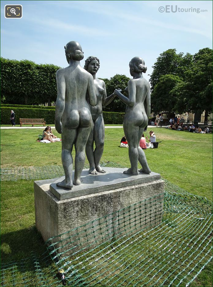 Bronze Statue The Three Graces By Maillol
