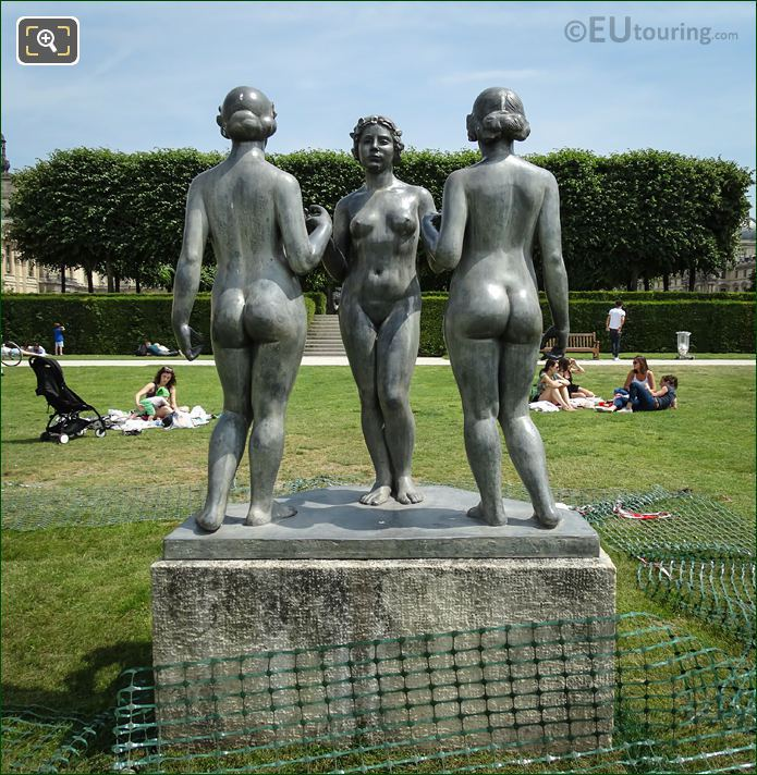 Les Trois Graces Statue Group West Side
