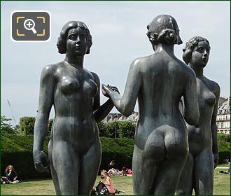Les Trois Graces Statue By Artist Maillol