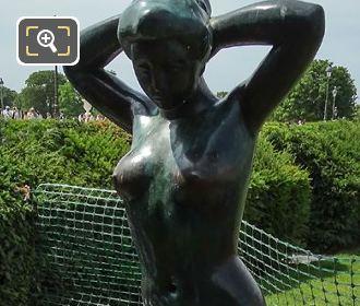 Aristide Maillol Statue Baigneuse Se Coiffant