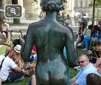 Back Of La Nymphe Statue By Aristide Maillol
