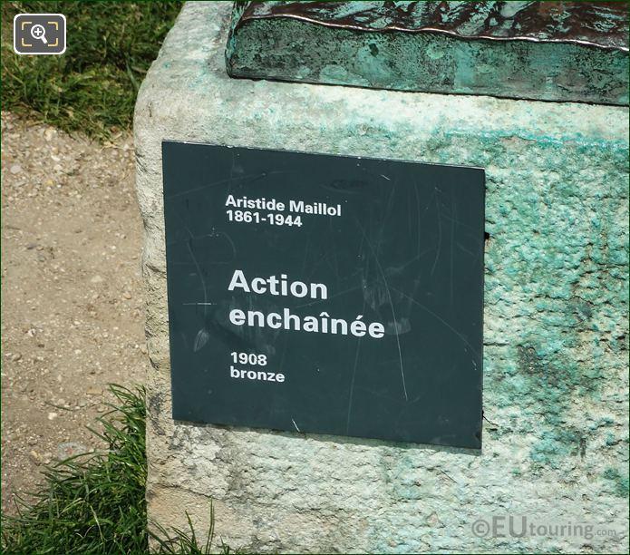 L Action Enchainee Statue Plaque