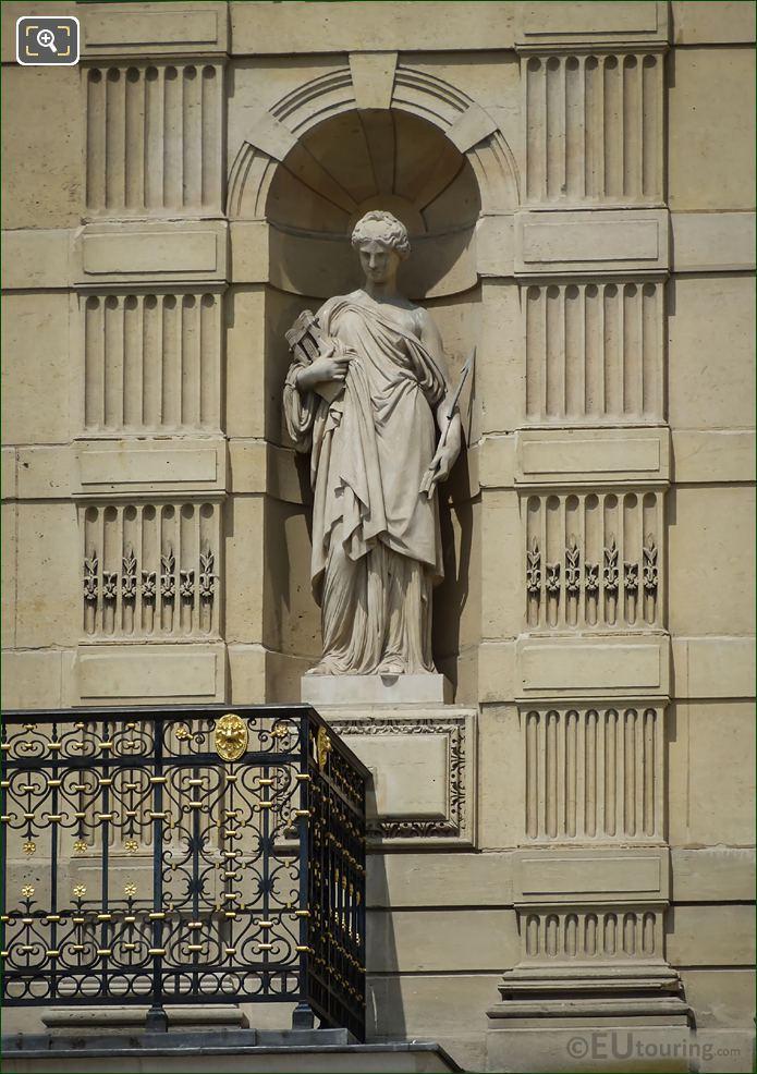 Greek Muse Erato Statue Aile De Marsan