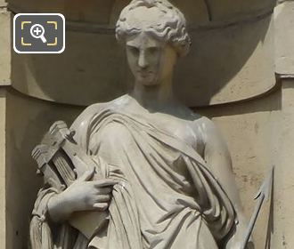 Greek Muse Erato Statue By Jean Francois Soitoux