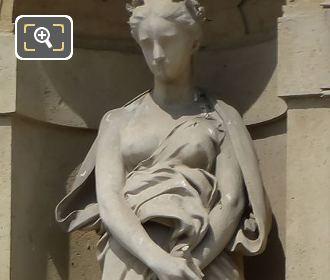 1874 Elegie Statue By Joseph Michel Caille