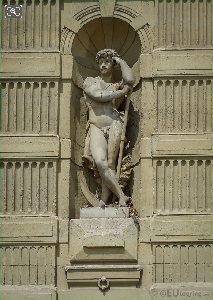 The Harvester Statue On Aile De Marsan