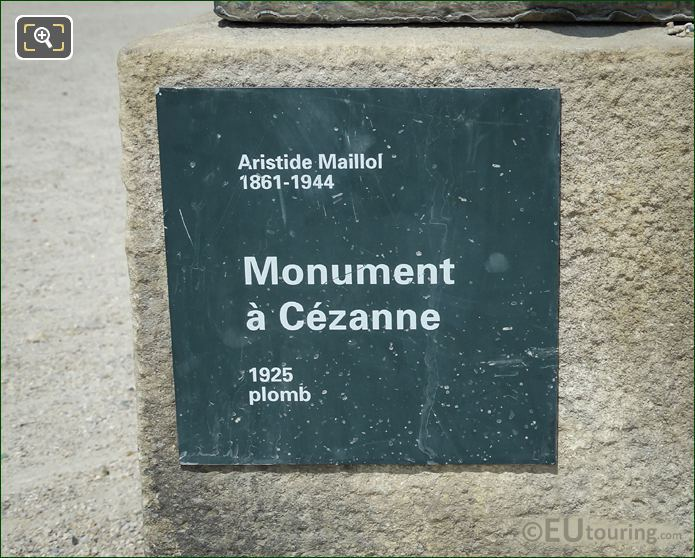 Monument A Cezanne Base And Plaque