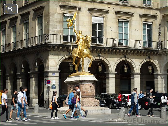 Golden Statue Of Jeanne d Arc