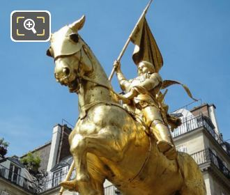 Gilded Bronze Statue Of Jeanne d Arc