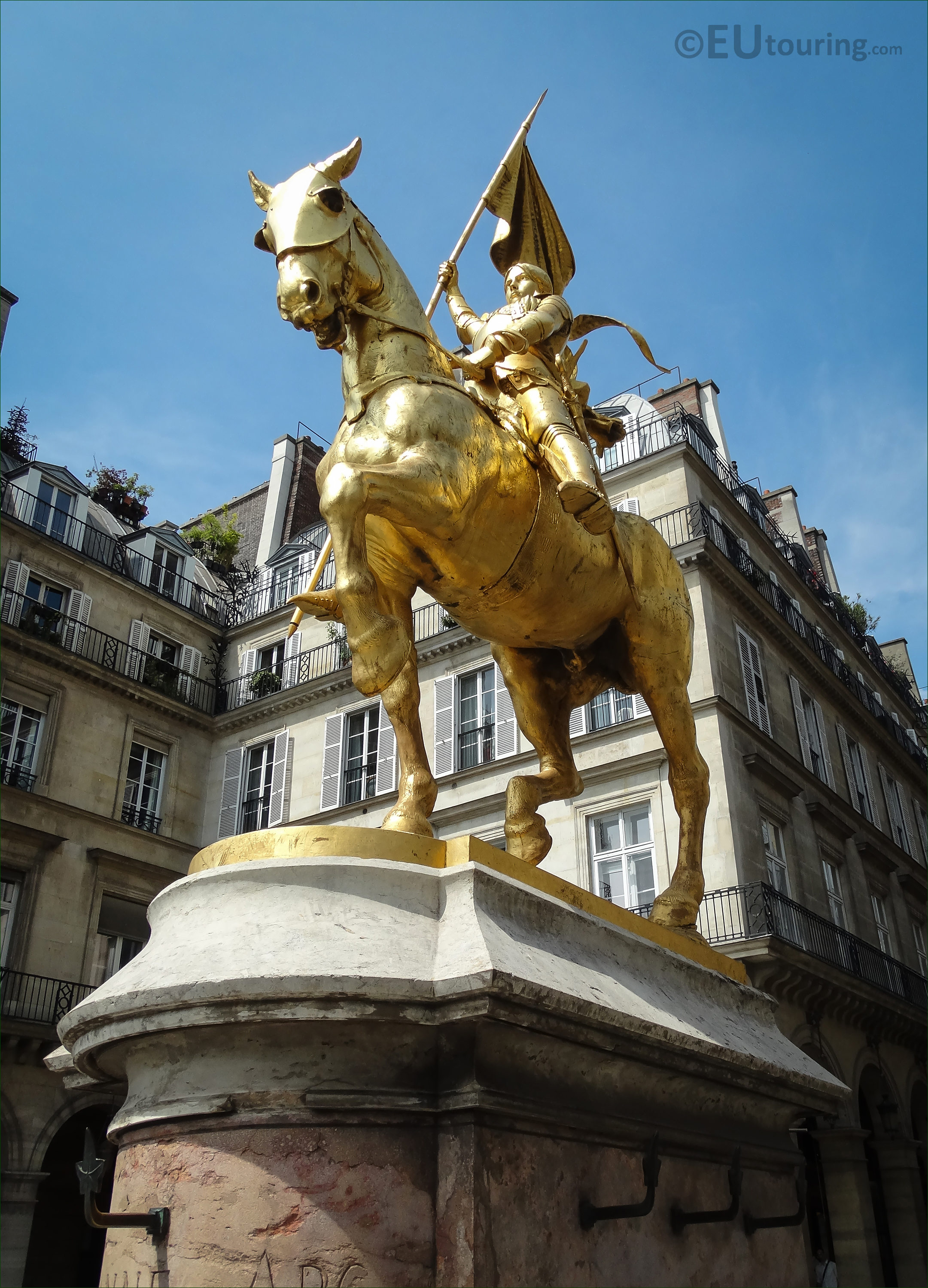Photos Of Gilded Equestrian Statue Of Joan Of Arc In Paris