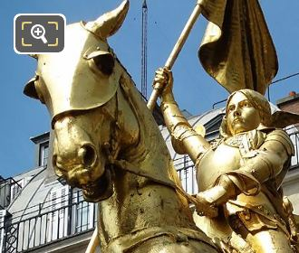 The Gilded Joan Of Arc Statue Paris