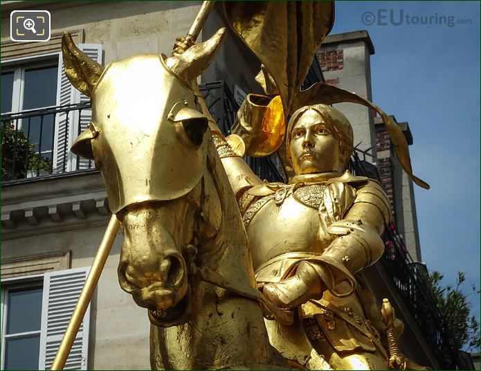 Golden Horses Head Joan Of Arc Statue