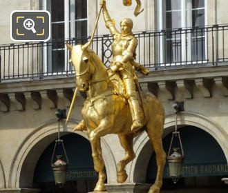 Statue Of Joan Of Arc On Her Horse