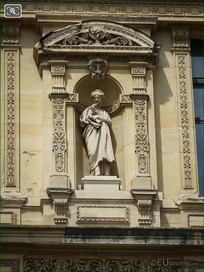 Allegory Statue Pavillon De Marsan The Louvre