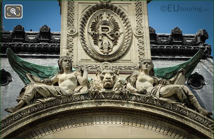 Pediment Statue Group By Theodore Charles Gruyere