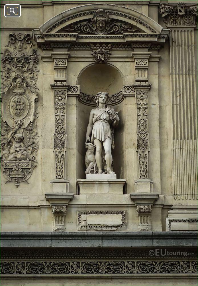 Roman God Bacchus Statue Pavillon De Tremoille