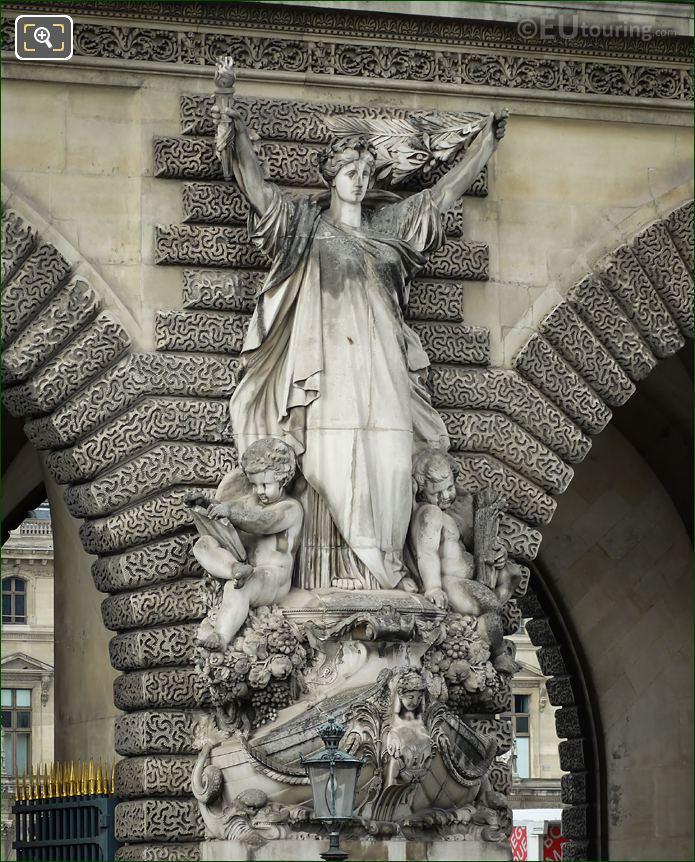 Marine Marchande Statue By Francois Jouffroy