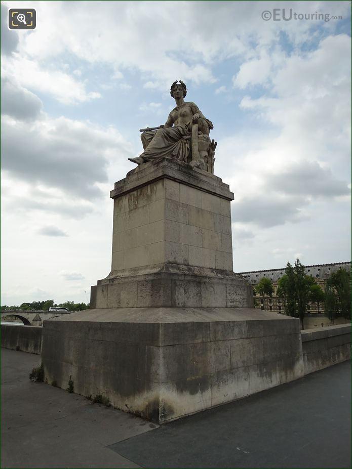 La Seine Statue By L Petitot Pont Carrousel