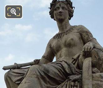 Close Up Of La Seine Statue By Petitot