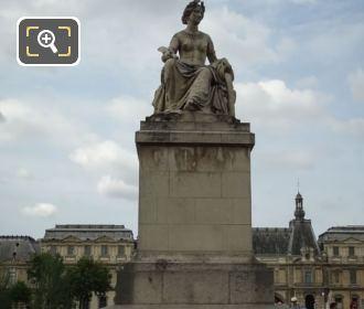 Front Of La Seine Statue On Pont Carrousel