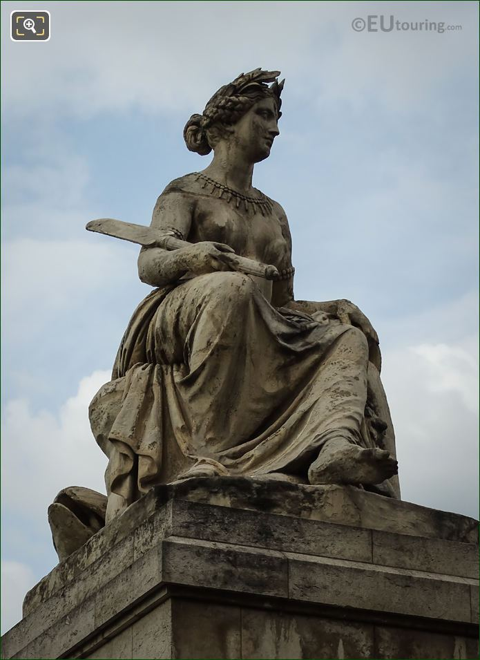 Pont Du Carrousel Statue Called La Seine