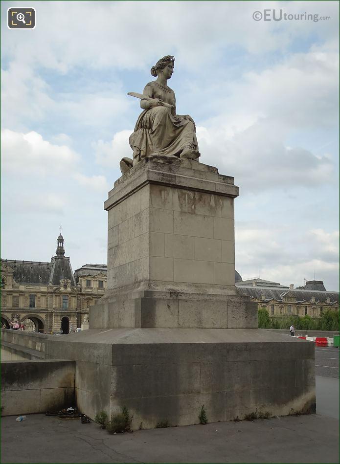 La Seine Statue And Base On Pont Carrousel