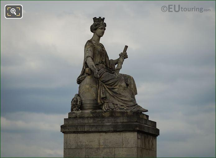 Western Side Of La Ville De Paris Statue