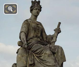 1840s Allegorical Statue La Ville De Paris