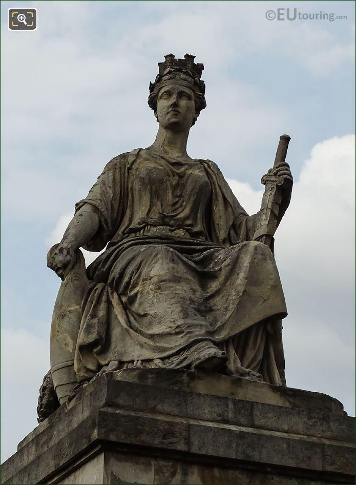 La Ville De Paris Statue By Louis Petitot