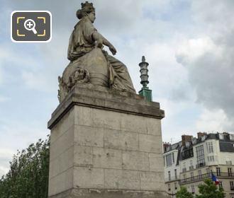 La Ville De Paris Statue On Its Stone Base
