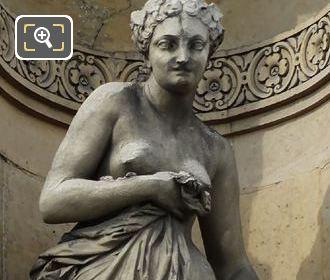 Nymphe Statue By Jean Baptiste Eugene Farochon
