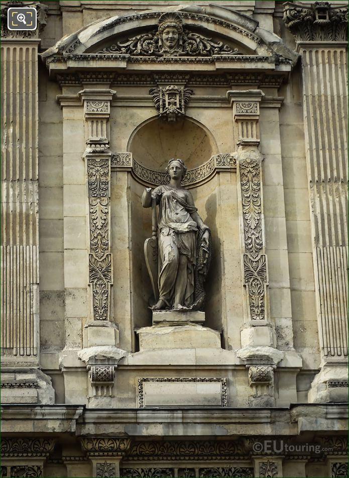La Peche Fluviale Statue Grande Galerie