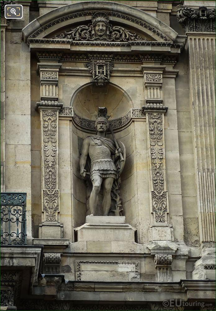 Le Guerrier Attendant Le combat Statue Grande Galerie