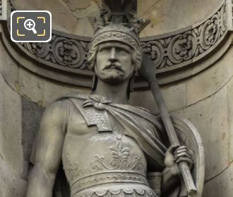 Guerrier Attendant Le Combat Statue By Eugene Oudine