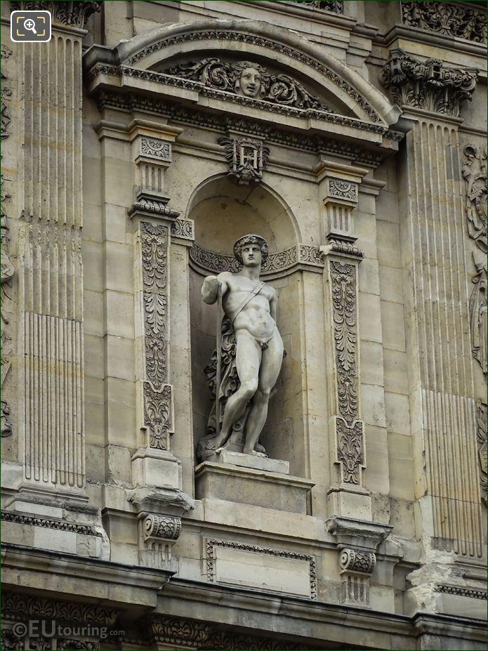 Le Laboureur Statue On Musee Du Louvre