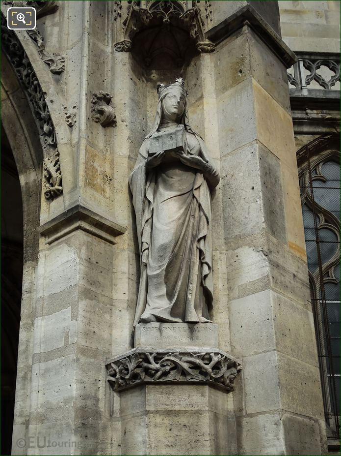 Sainte Jeanne De Valois Statue By Louis Desprez