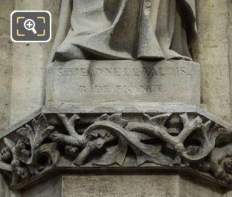 Sainte Jeanne De Valois Inscription On Eglise Saint-Germain l'Auxerrois