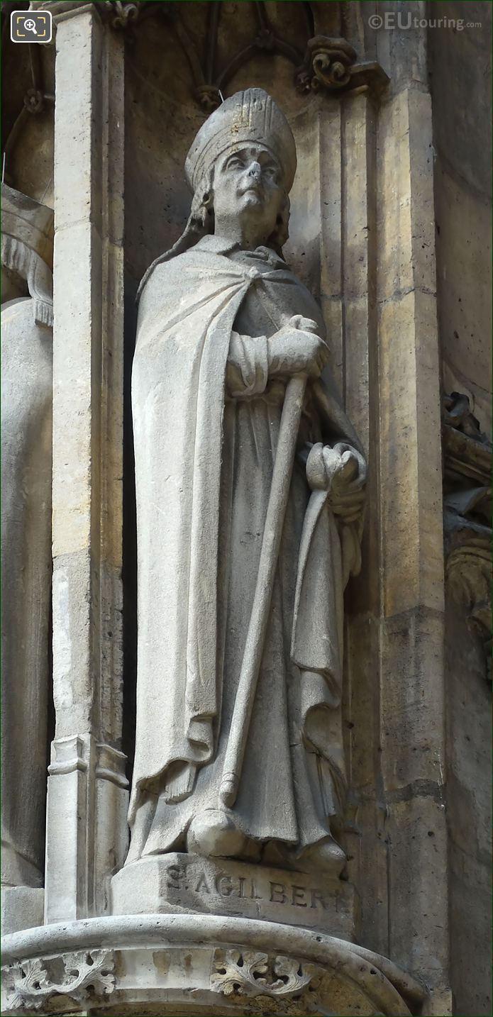 Saint Agilbert Statue By French Artist Louis Desprez