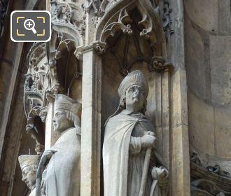 Saint Agilbert Statue On Eglise Saint-Germain l'Auxerrois