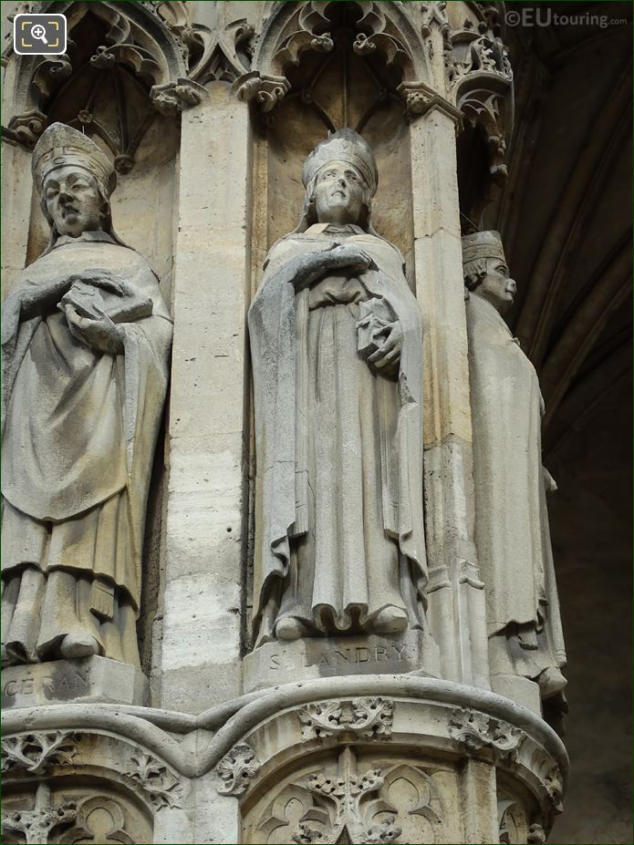 Saint Landry Statue At Eglise Saint-Germain l'Auxerrois