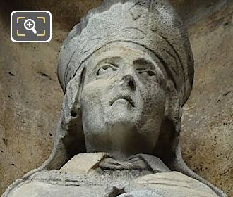 Saint Landry Statue By French Sculptor Louis Desprez
