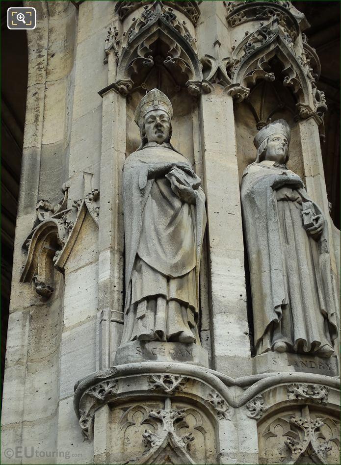 Saint Ceran Statue At Eglise Saint-Germain l'Auxerrois