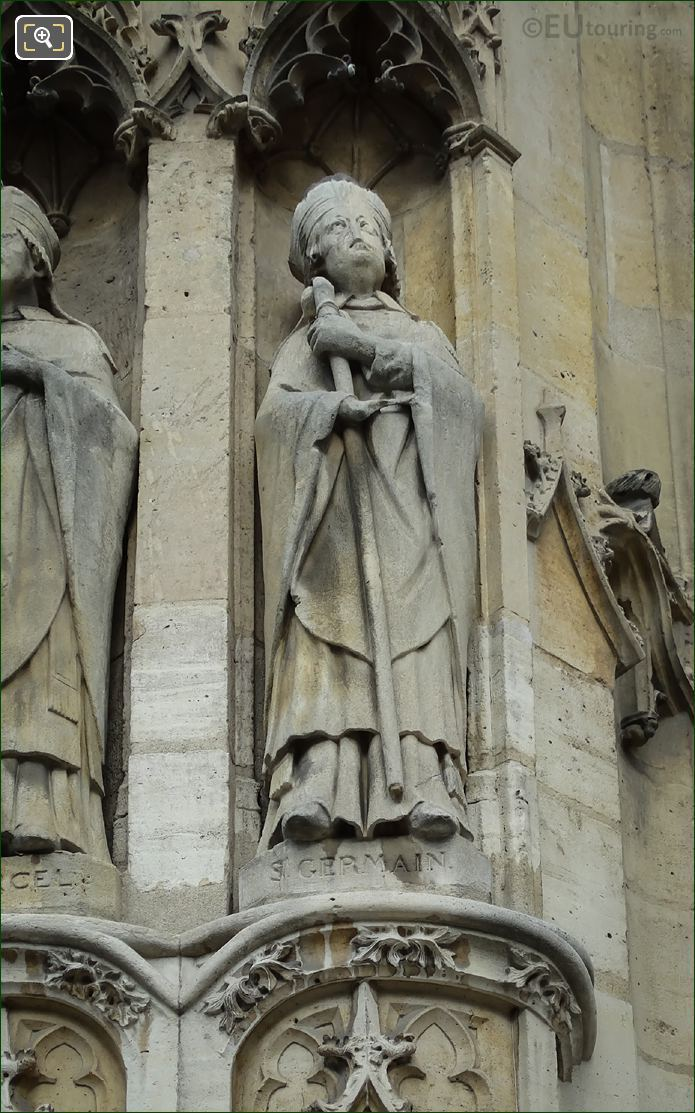 Saint Germain Statue At Eglise Saint-Germain l'Auxerrois