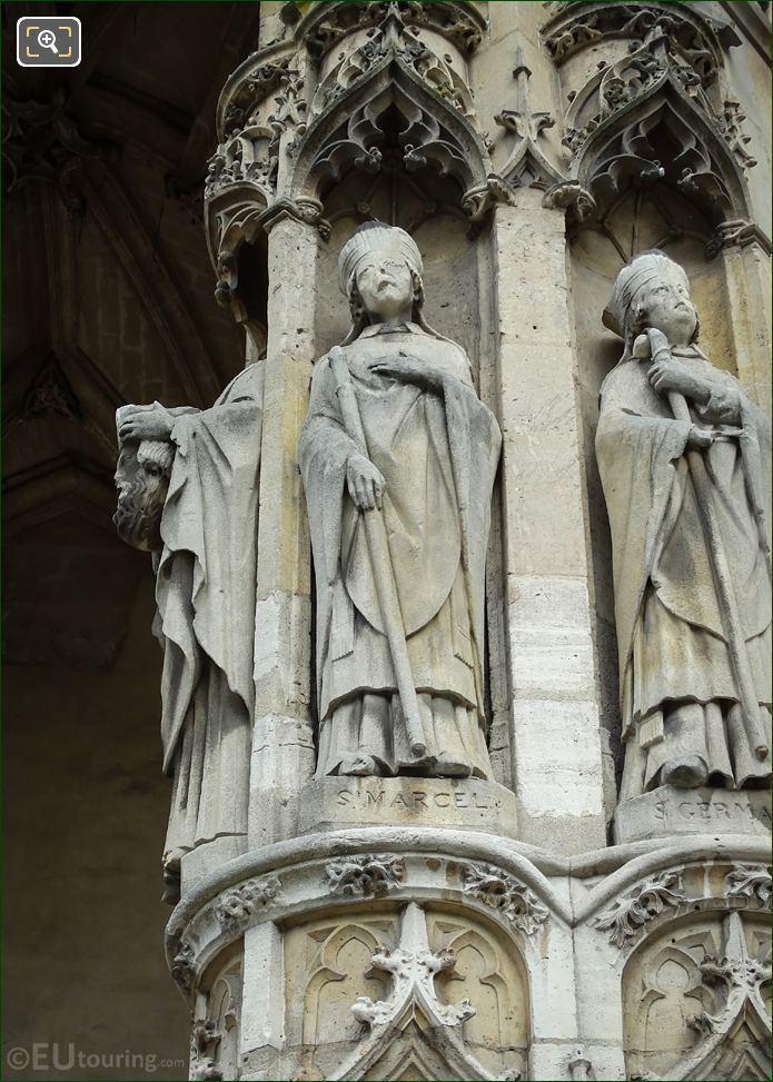 Saint Marcel Statue At Eglise Saint-Germain l'Auxerrois