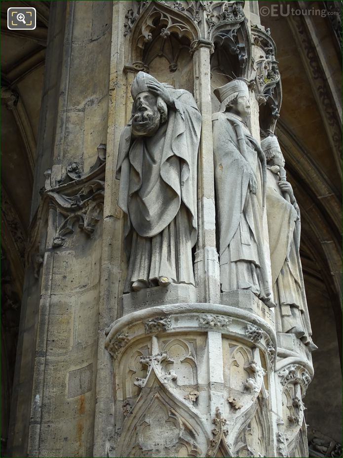 Saint Denis Statue At Eglise Saint-Germain l'Auxerrois