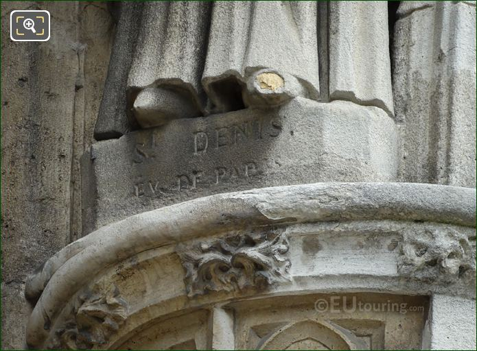 St Denis Ev De Paris Inscription On Statue Base